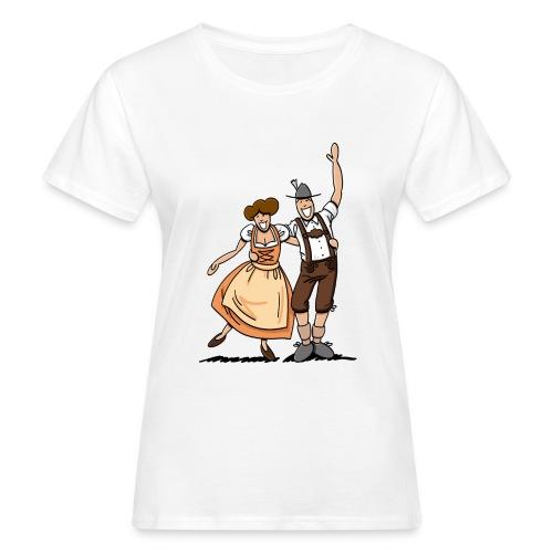 Bierkrug Oktoberfest Fröhliches Paar - Frauen Bio-T-Shirt