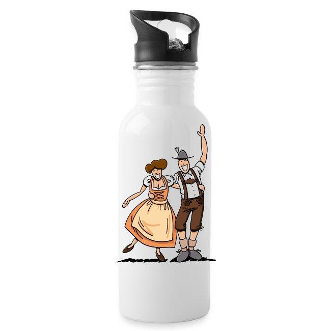 Bierkrug Oktoberfest Fröhliches Paar