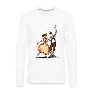 Bierkrug Oktoberfest Fröhliches Paar - Männer Premium Langarmshirt