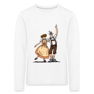 Bierkrug Oktoberfest Fröhliches Paar - Kinder Premium Langarmshirt