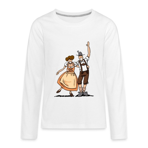 Bierkrug Oktoberfest Fröhliches Paar - Teenager Premium Langarmshirt
