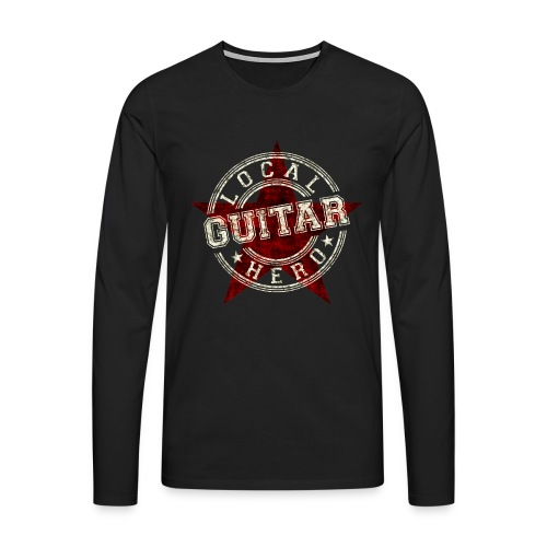 Local Hero GUITAR - Männer Premium Langarmshirt