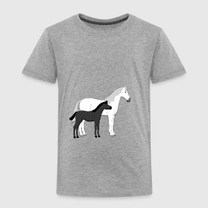 horse and foal white and black Accessoires - Kinderen Premium T-shirt