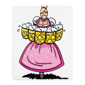 Damen T-Shirt Oktoberfest Bedienung Maßkrüge - Mousepad (Hochformat)