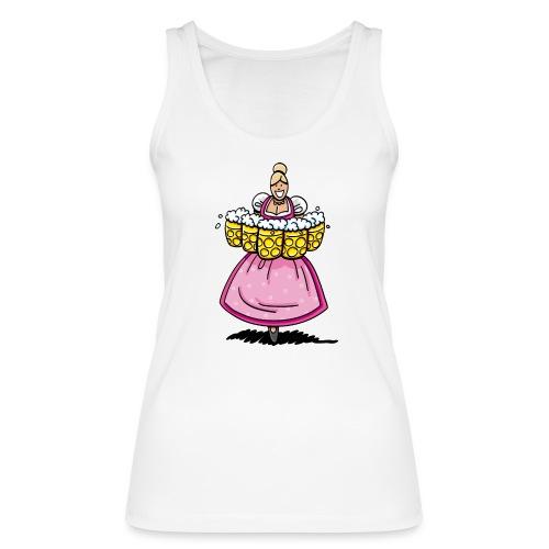 Damen T-Shirt Oktoberfest Bedienung Maßkrüge - Frauen Bio Tank Top von Stanley & Stella