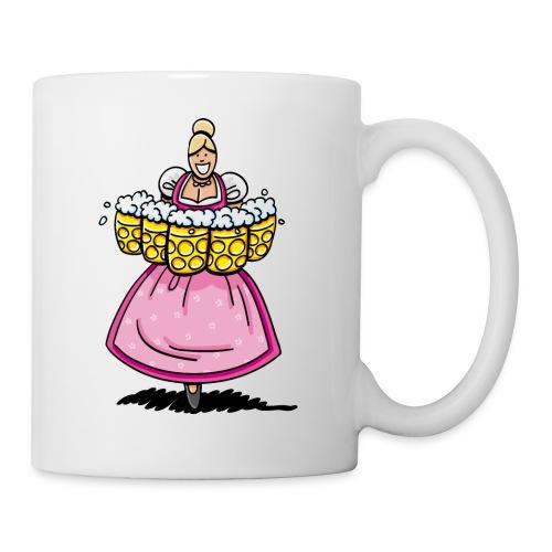 Damen T-Shirt Oktoberfest Bedienung Maßkrüge - Tasse