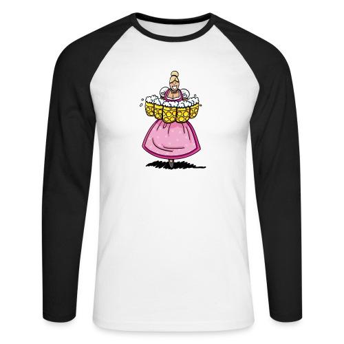Damen T-Shirt Oktoberfest Bedienung Maßkrüge - Männer Baseballshirt langarm