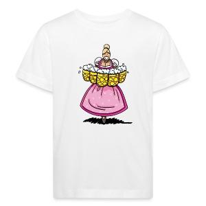 Damen T-Shirt Oktoberfest Bedienung Maßkrüge - Kinder Bio-T-Shirt
