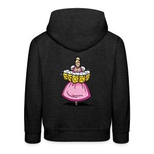 Damen T-Shirt Oktoberfest Bedienung Maßkrüge - Kinder Premium Hoodie