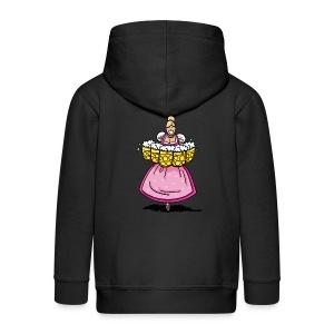 Damen T-Shirt Oktoberfest Bedienung Maßkrüge - Kinder Premium Kapuzenjacke