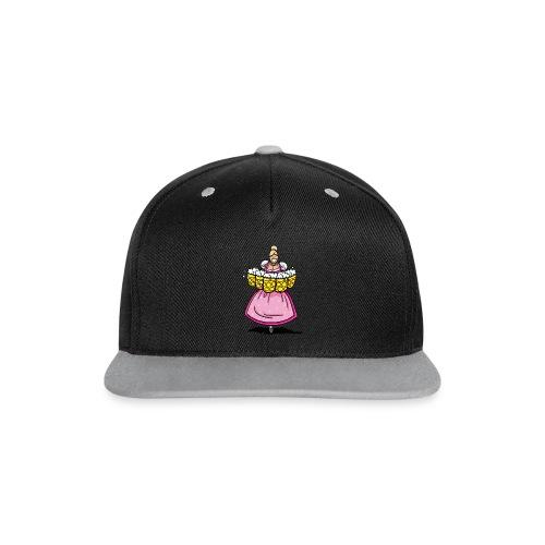 Damen T-Shirt Oktoberfest Bedienung Maßkrüge - Kontrast Snapback Cap