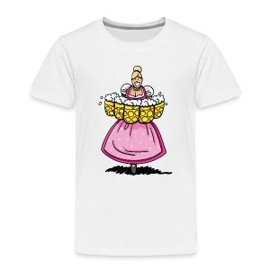 Damen T-Shirt Oktoberfest Bedienung Maßkrüge - Kinder Premium T-Shirt