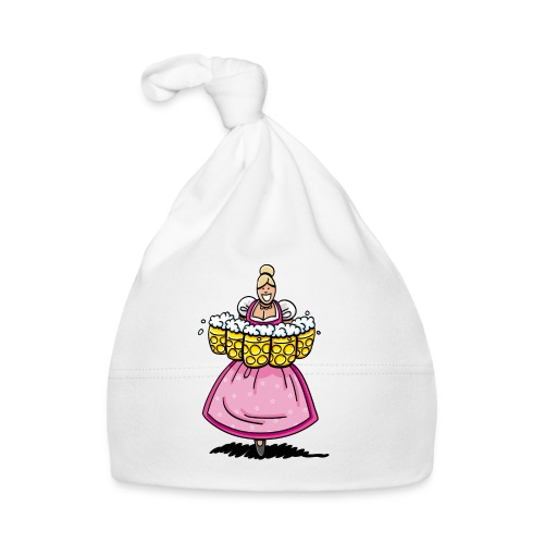 Damen T-Shirt Oktoberfest Bedienung Maßkrüge - Baby Mütze