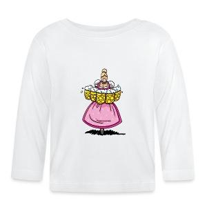 Damen T-Shirt Oktoberfest Bedienung Maßkrüge - Baby Langarmshirt