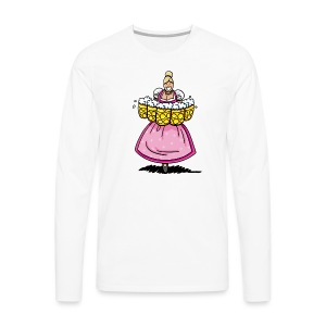 Damen T-Shirt Oktoberfest Bedienung Maßkrüge - Männer Premium Langarmshirt