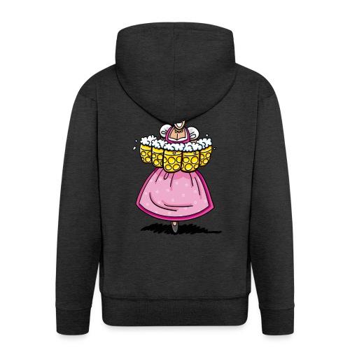 Damen T-Shirt Oktoberfest Bedienung Maßkrüge - Männer Premium Kapuzenjacke