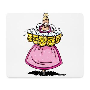 Damen T-Shirt Oktoberfest Bedienung Maßkrüge - Mousepad (Querformat)