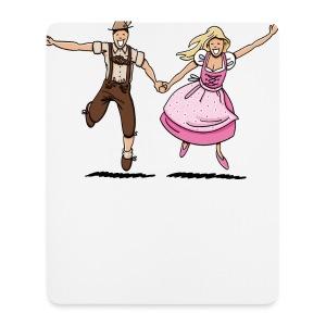Damen T-Shirt Oktoberfest Glückliches Paar - Mousepad (Hochformat)