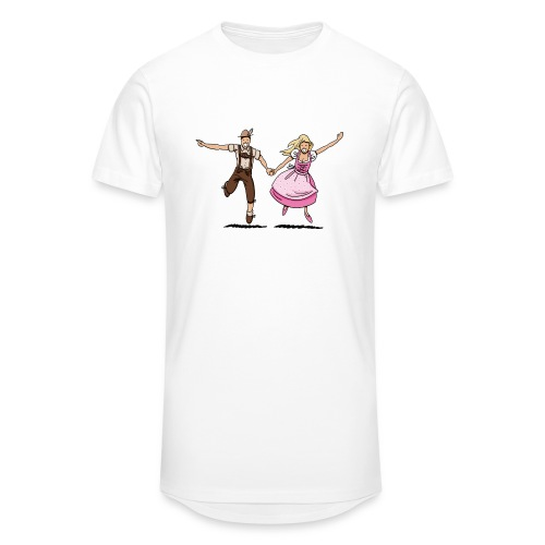 Damen T-Shirt Oktoberfest Glückliches Paar - Männer Urban Longshirt