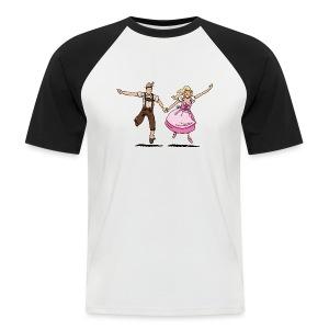 Damen T-Shirt Oktoberfest Glückliches Paar - Männer Baseball-T-Shirt