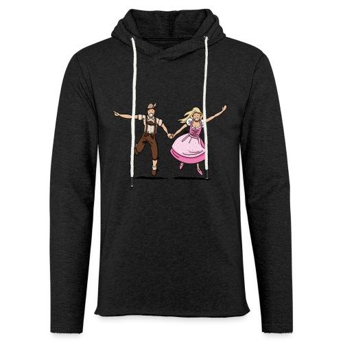 Damen T-Shirt Oktoberfest Glückliches Paar - Leichtes Kapuzensweatshirt Unisex