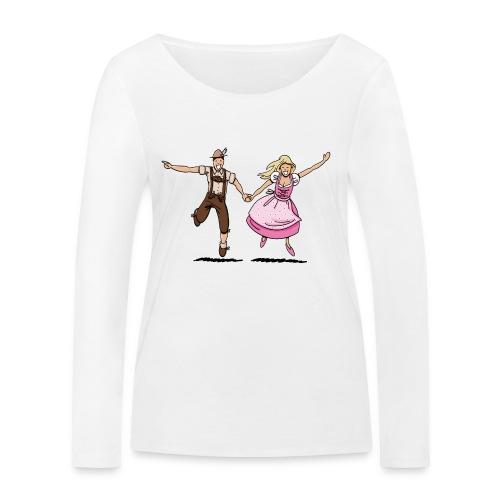 Damen T-Shirt Oktoberfest Glückliches Paar - Frauen Bio-Langarmshirt von Stanley & Stella