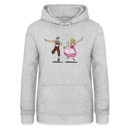 Damen T-Shirt Oktoberfest Glückliches Paar - Frauen Hoodie