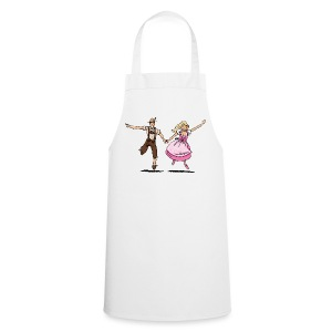 Damen T-Shirt Oktoberfest Glückliches Paar - Kochschürze