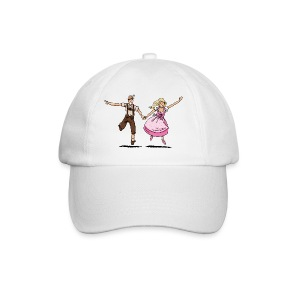 Damen T-Shirt Oktoberfest Glückliches Paar - Baseballkappe