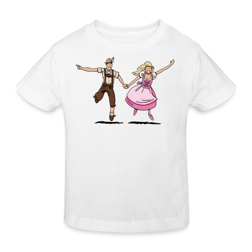 Damen T-Shirt Oktoberfest Glückliches Paar - Kinder Bio-T-Shirt