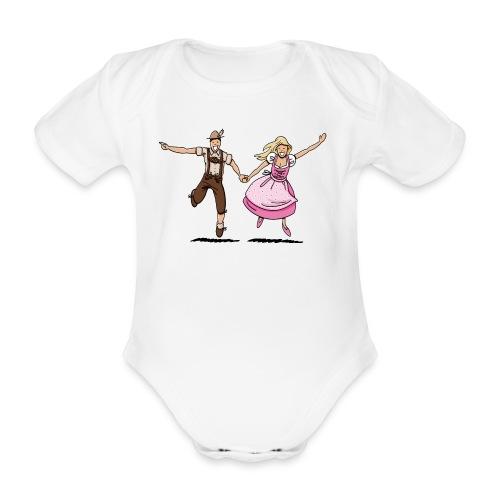 Damen T-Shirt Oktoberfest Glückliches Paar - Baby Bio-Kurzarm-Body