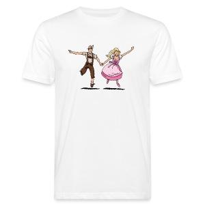 Damen T-Shirt Oktoberfest Glückliches Paar - Männer Bio-T-Shirt