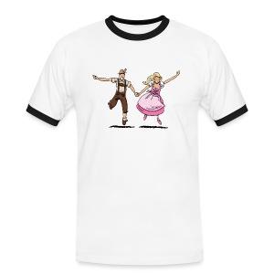 Damen T-Shirt Oktoberfest Glückliches Paar - Männer Kontrast-T-Shirt