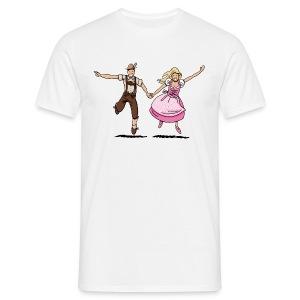 Damen T-Shirt Oktoberfest Glückliches Paar - Männer T-Shirt