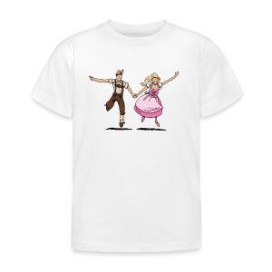 Damen T-Shirt Oktoberfest Glückliches Paar - Kinder T-Shirt