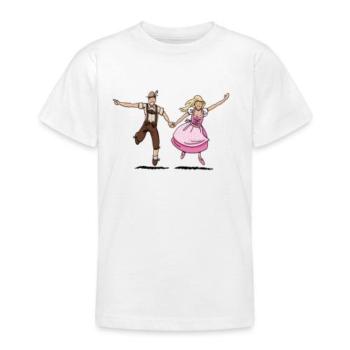 Damen T-Shirt Oktoberfest Glückliches Paar - Teenager T-Shirt