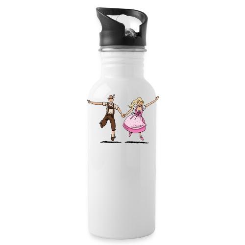 Damen T-Shirt Oktoberfest Glückliches Paar - Trinkflasche