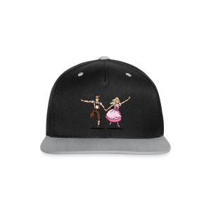 Damen T-Shirt Oktoberfest Glückliches Paar - Kontrast Snapback Cap