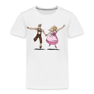 Damen T-Shirt Oktoberfest Glückliches Paar - Kinder Premium T-Shirt