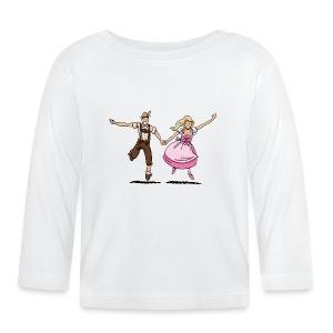 Damen T-Shirt Oktoberfest Glückliches Paar - Baby Langarmshirt