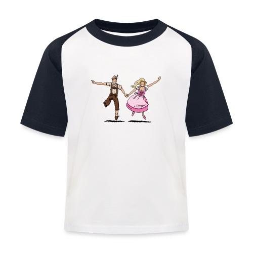 Damen T-Shirt Oktoberfest Glückliches Paar - Kinder Baseball T-Shirt
