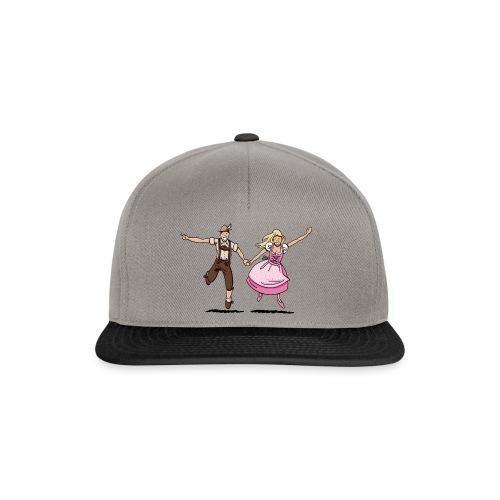 Damen T-Shirt Oktoberfest Glückliches Paar - Snapback Cap