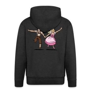 Damen T-Shirt Oktoberfest Glückliches Paar - Männer Premium Kapuzenjacke