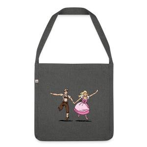 Damen T-Shirt Oktoberfest Glückliches Paar - Schultertasche aus Recycling-Material