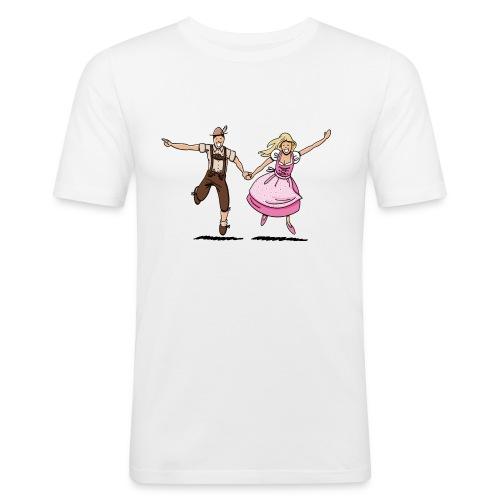 Damen T-Shirt Oktoberfest Glückliches Paar - Männer Slim Fit T-Shirt