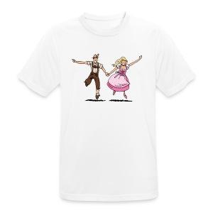 Damen T-Shirt Oktoberfest Glückliches Paar - Männer T-Shirt atmungsaktiv