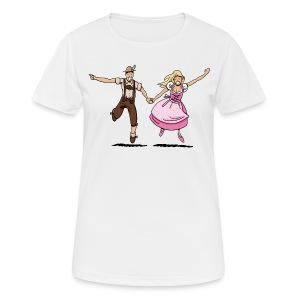 Damen T-Shirt Oktoberfest Glückliches Paar - Frauen T-Shirt atmungsaktiv