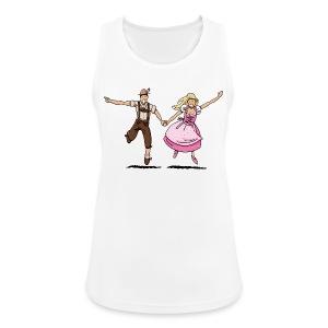 Damen T-Shirt Oktoberfest Glückliches Paar - Frauen Tank Top atmungsaktiv