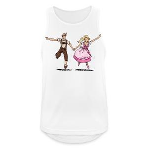 Damen T-Shirt Oktoberfest Glückliches Paar - Männer Tank Top atmungsaktiv