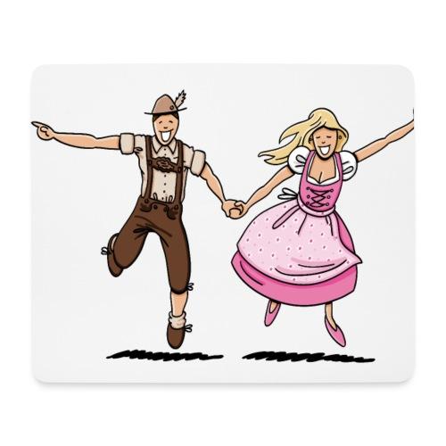 Damen T-Shirt Oktoberfest Glückliches Paar - Mousepad (Querformat)